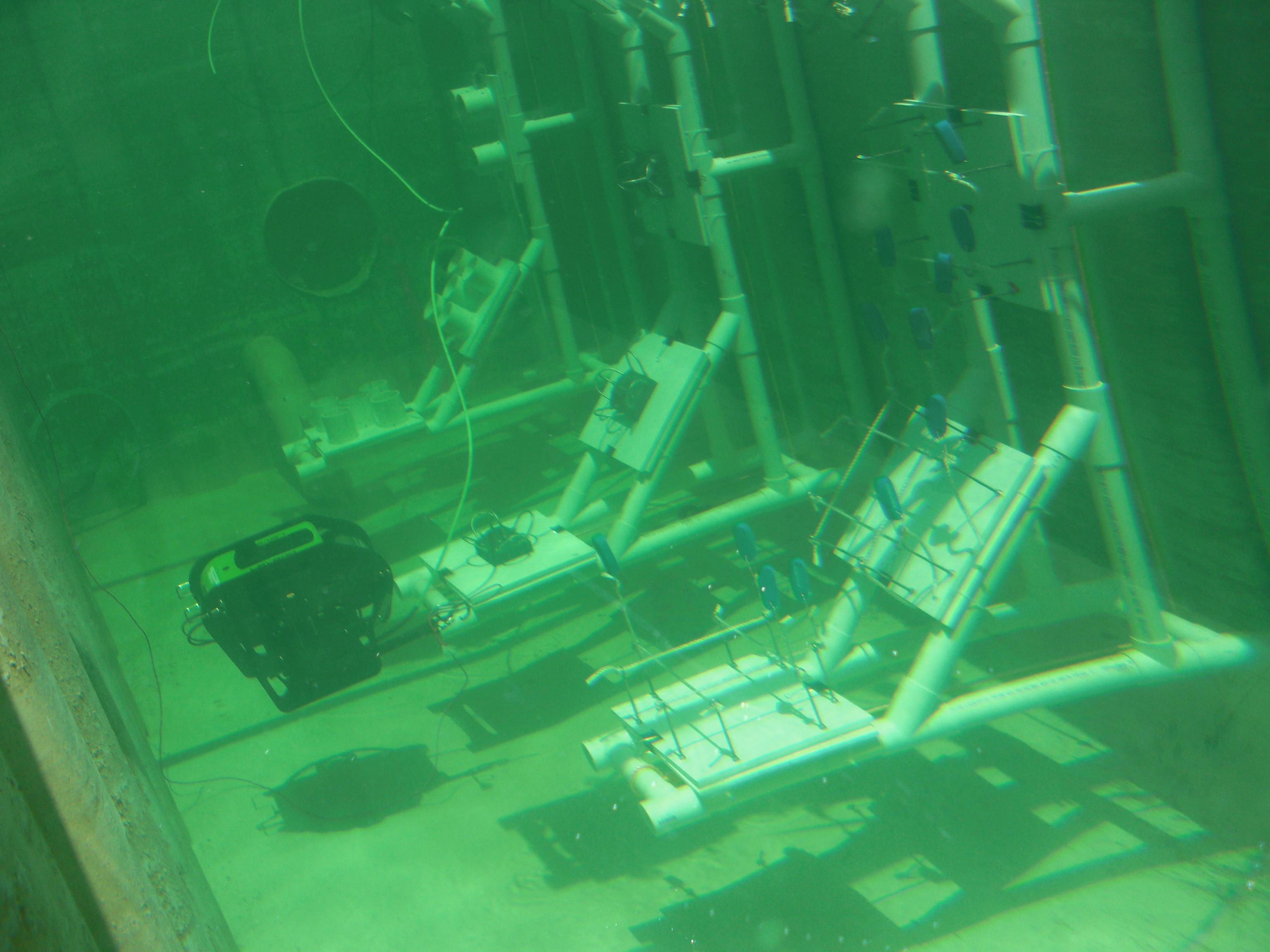 Aquatic  Apparatus with underwater robot