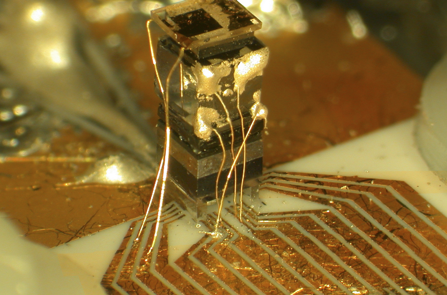 Photo of a chip-scale atomic clock