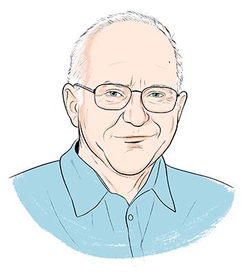 Jan Hall illustrated portrait