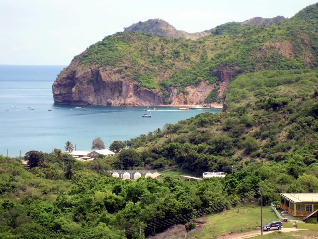 Modern-day Montserrat, an idyllic beach
