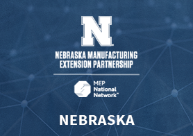 Nebraska Manufacturing Extension Partnership logo that links to the MEP Center's one pager
