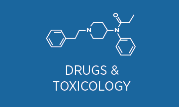 Drugs forensic icons
