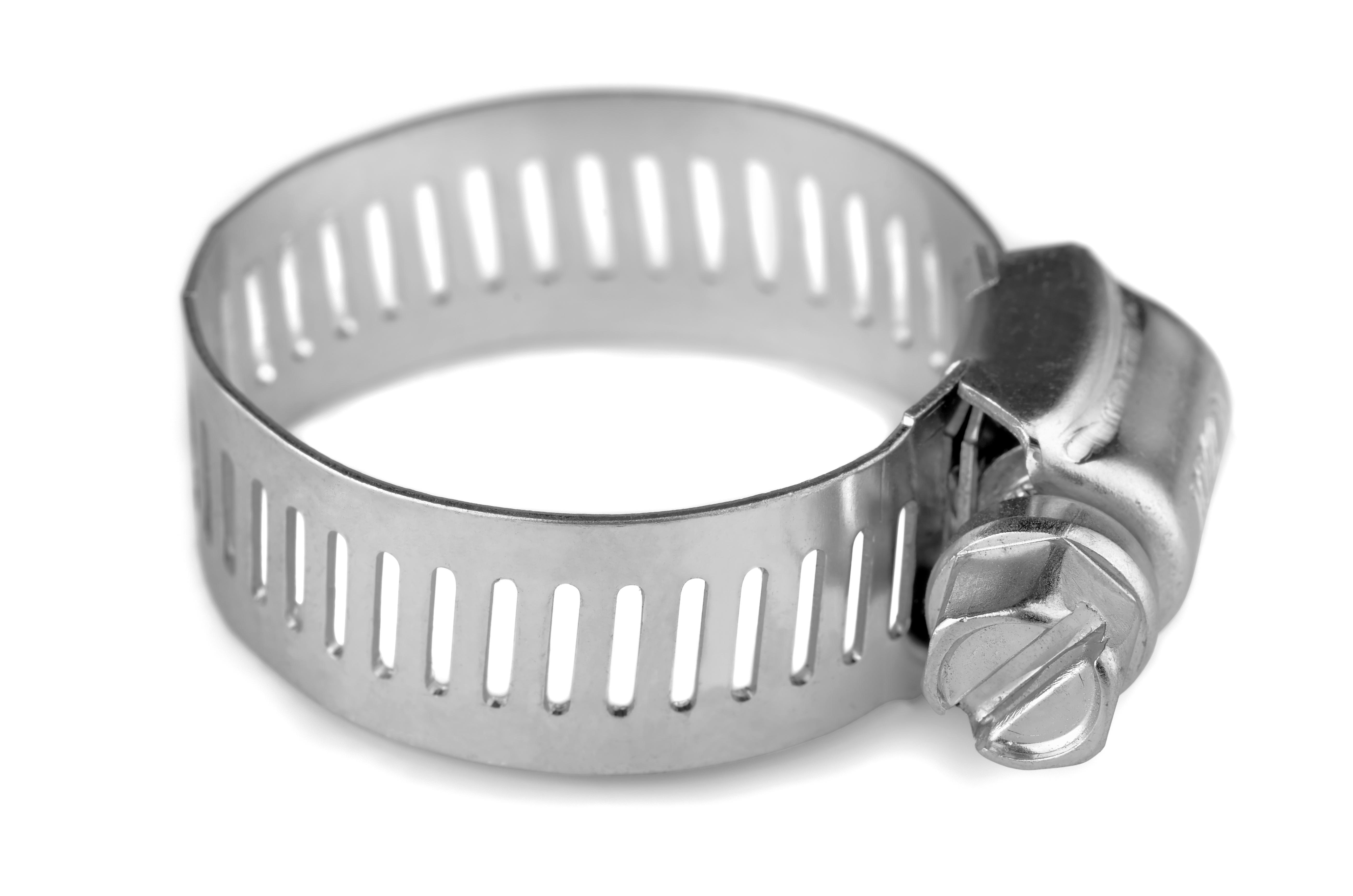 an image of a worm-geared hose clamp