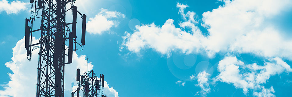 cellphone towers and sky