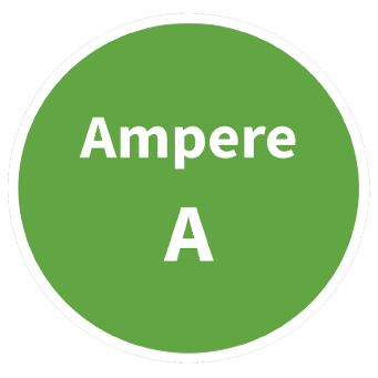 Ampere SI Symbol Circle Graphic