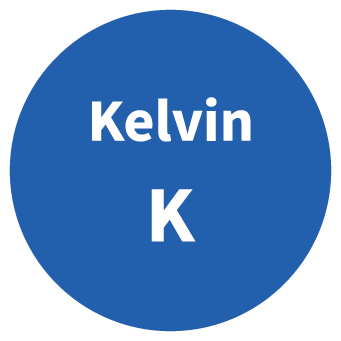 Kelvin SI Symbol Circle Graphic