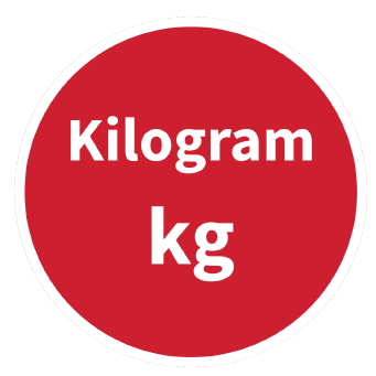 Kilogram SI Symbol Circle Graphic