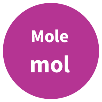 Mole SI Symbol Circle Graphic