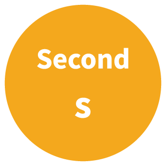 Second SI Unit Symbol Circle Graphic