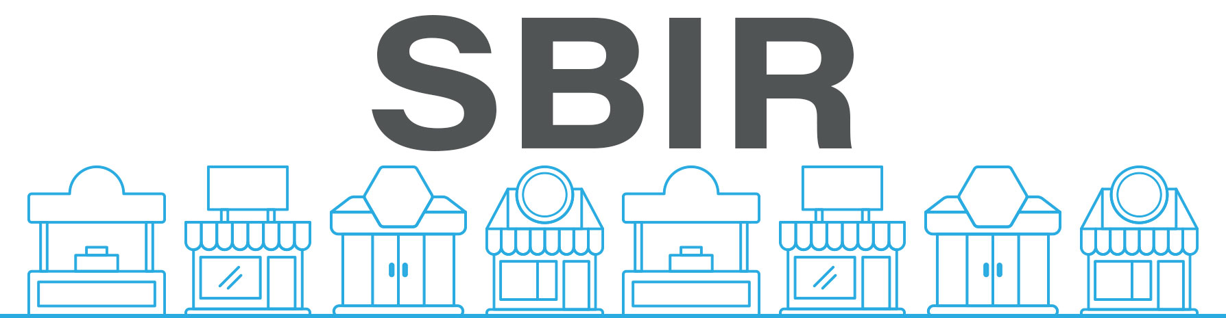 Banner Image showing some small buildings with the text SBIR above it