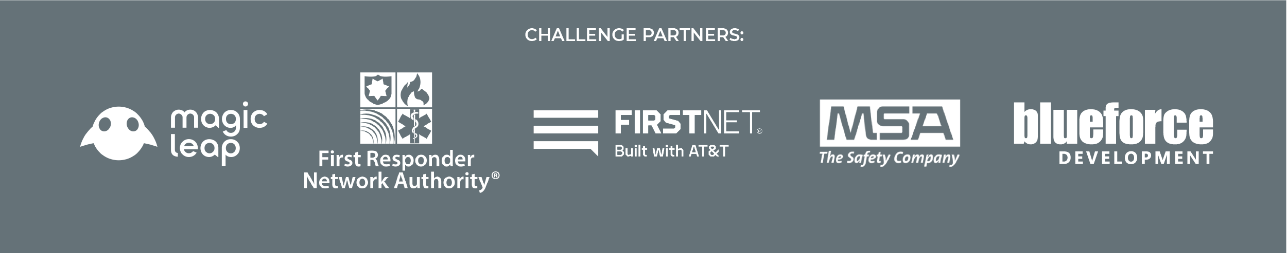 Image for PSCR CHARIoT Challenge partners FirstNet, FirstNet by AT&T, MSA Safety, BlueForce, and Magic Leap