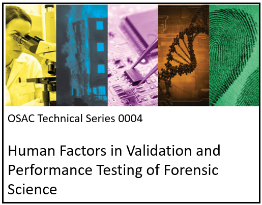 OSAC Technical Series Publication 0004