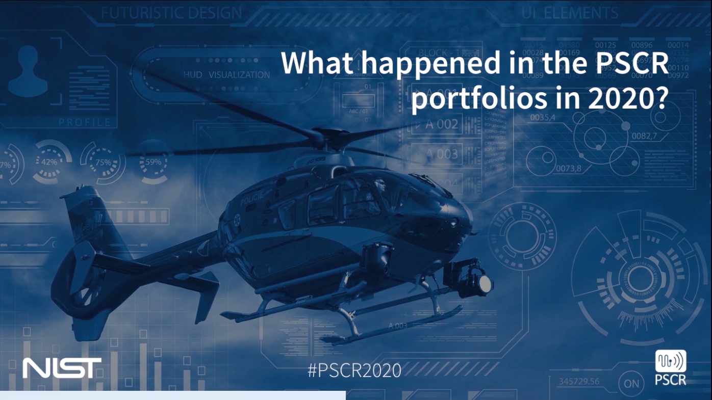 "This image shows a blue background with a helicopter image, the text reads ""What happened in the PSCR portfolios in 2020?"""