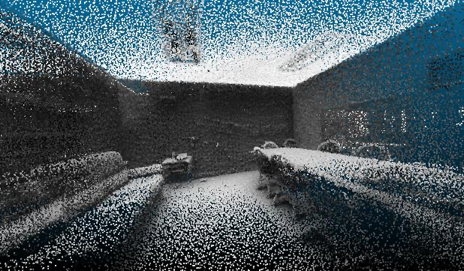 Image of a point cloud rendering