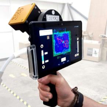 Portable lidar scanner in hand
