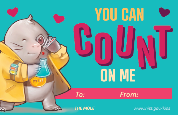 Mole character. Text: You can count on me. To and From lines at bottom.