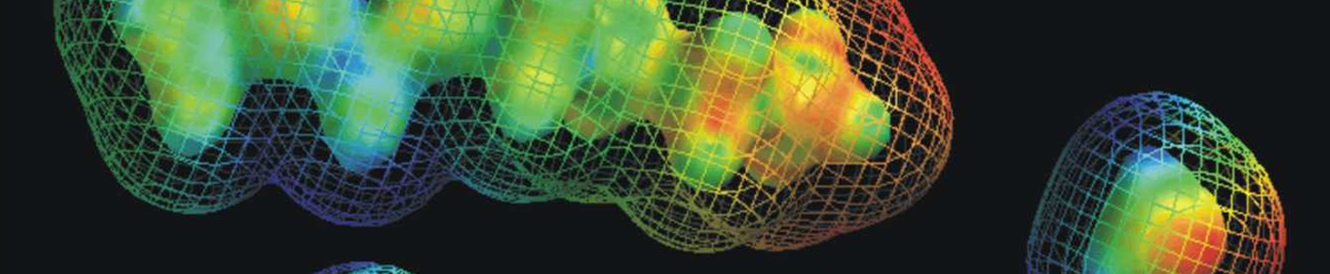 colorful blobs on a black background with colorful netting around it.