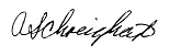 signature of April Schweighart