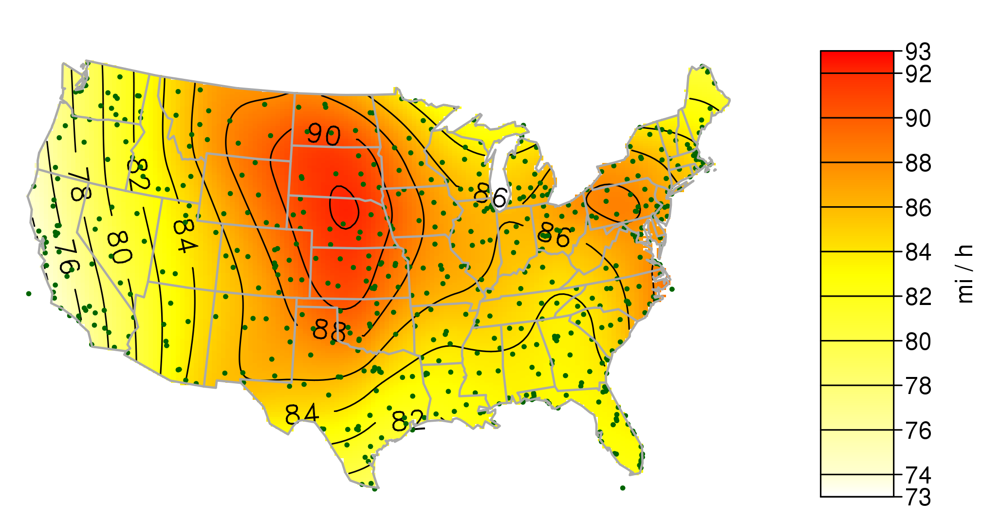 Assessing Wind Determining Your Wind Resource Home Power Magazine - Us wind speed map