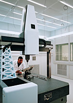 Dan Sawyer with coordinate measuring machines (CMMs)