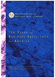 cover image for Ten Years of Business Excellence for America
