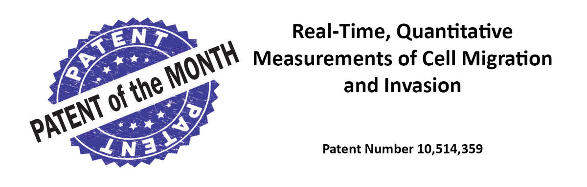 Patent of the Month: Real-Time Quantitative Measurements of Cell Migration and Invasion. Patent 10,514,359