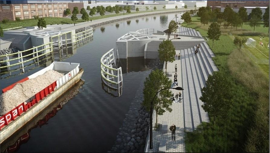 Proposed Storm Surge Barrier Along Newtown Creek in New York