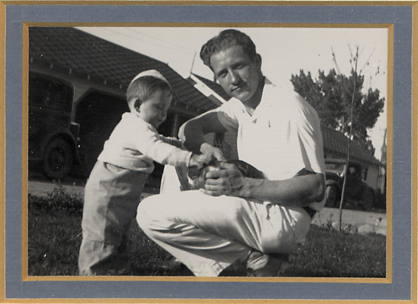 Jan Hall and his dad in 1936