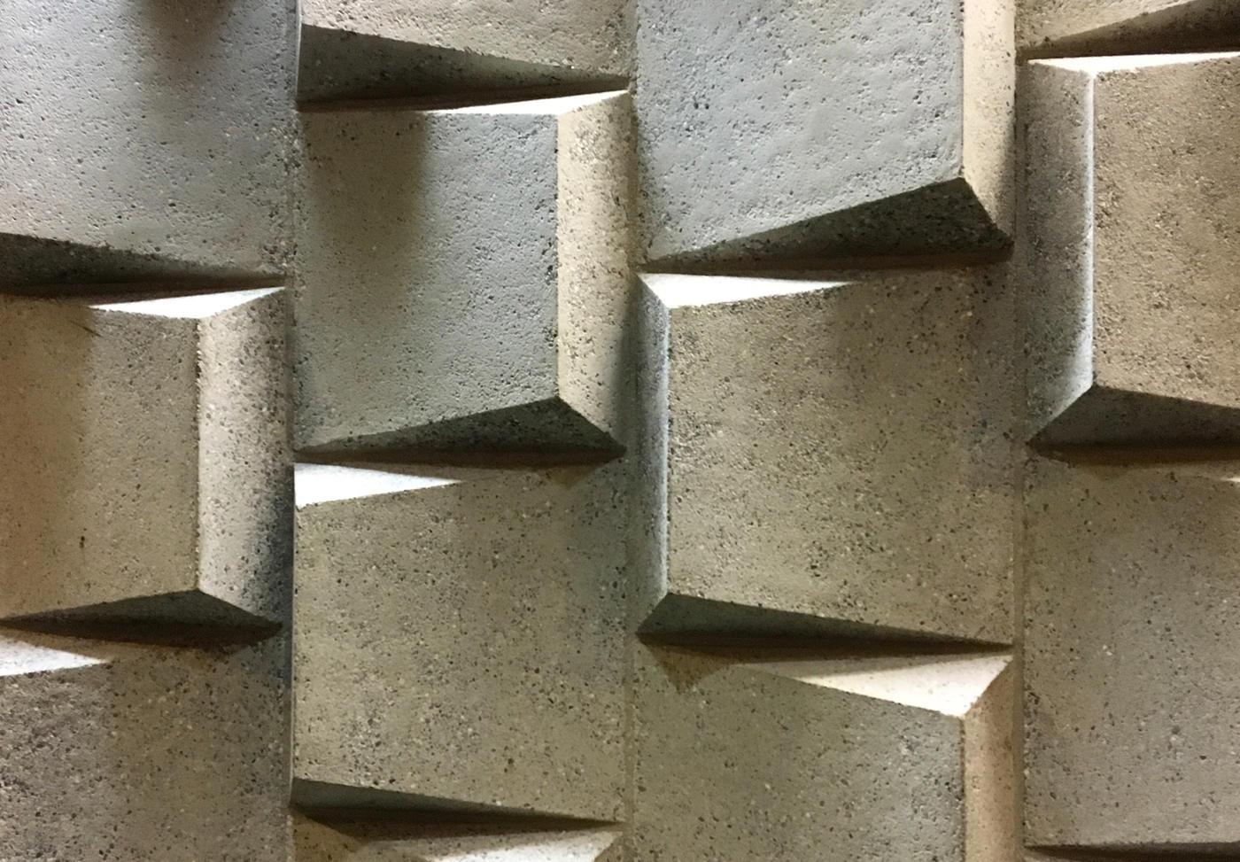 artsy photo of a concrete wall at Bronx Comunity College