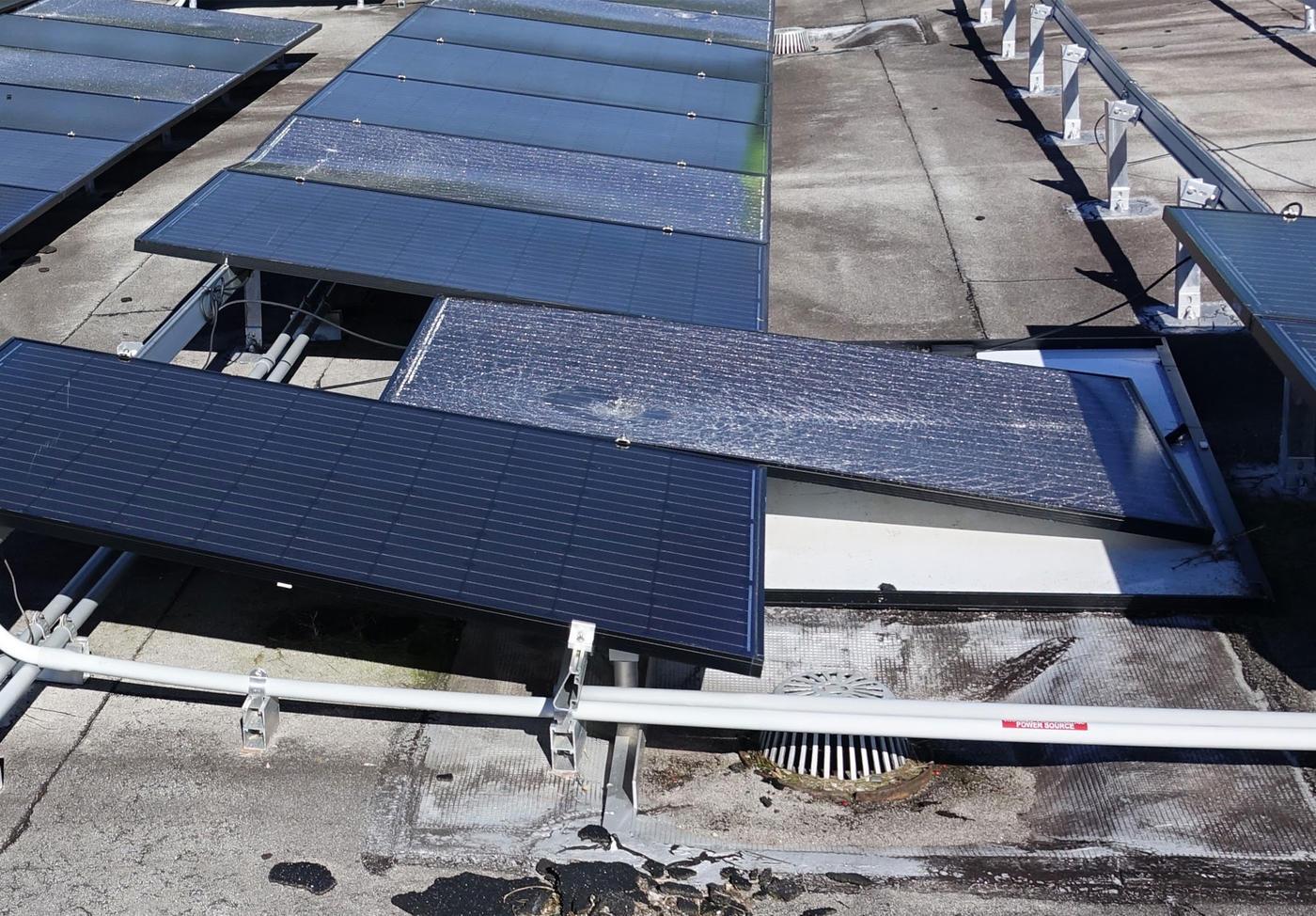 Damaged Solar Panels Vieques