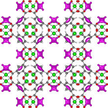 closeup image of the HKUST-1 metal-organic framework