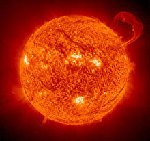 This image of the sun's ultraviolet radiation shows differences in the temperatures on the sun's surface.