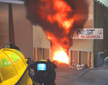 NIST firefighter with thermal imager