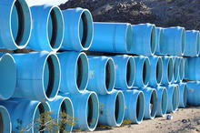 Water treatment plant pipes