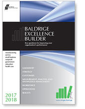 2017-2018 Baldrige Excellence Builder cover