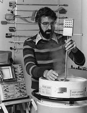 Richard Kautz testing the standard he helped develop.