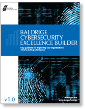 Baldrige Cybersecurity Excellence Builder Version 1.0 cover