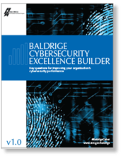 Baldrige Cybersecurity Excellence Builder cover art