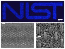 NIST logo in GaN nanowires