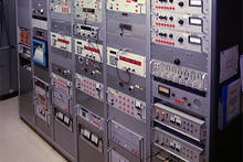 a bank of electronics at WWVH