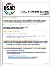 OSAC Standards Bulletin, August 2018