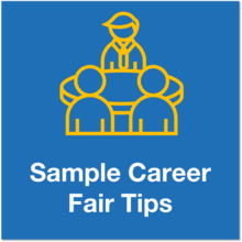 sample career fair tips icon