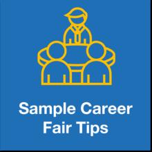 sample career fair tips icon