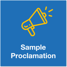 sample proclamation icon