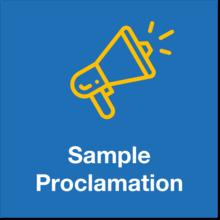 sample proclamation icon