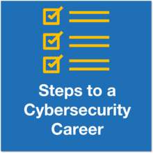 Steps to a cybersecurity career icon