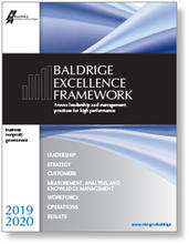2019-2020 Baldrige Excellence Framework Business/Nonprofit cover artwork