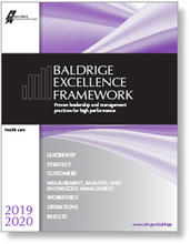 2019-2020 Baldrige Excellence Framework Health Care cover art