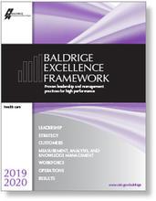2019-2020 Baldrige Excellence Framework Health Care cover art
