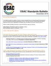 OSAC Standards Bulletin December 2018